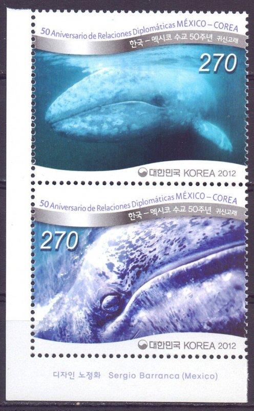 South Korea. 2012. Whales fauna. MNH.