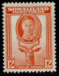 SOMALILAND PROTECTORATE GVI SG112, 12a red-orange, LH MINT.