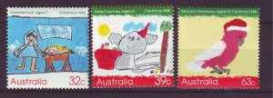 J23873 JLstamps 1988 australia set mnh #1102-4 christmas