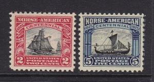 620 & 621 Set VF-XF OG mint never hinged with nice color ! see pic !