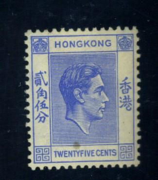 Hong Kon #160 MINT FVF OG LH Cat$17