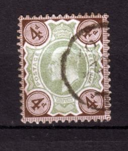 J18253 JLstamps 1902 great britain used #133 king