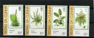 TRISTAN DA CUNHA 1989 FLORA PLANTS SET OF 4 STAMPS MNH