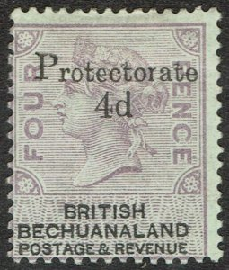 BECHUANALAND 1888 QV PROTECTORATE 4D ON 4D