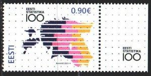 Estonia. 2021. 1007. 100 years of statehood, card. MNH.