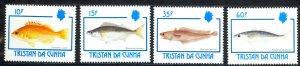 Tristan Da Cunha Sc# 513-516 MNH 1992 Fish