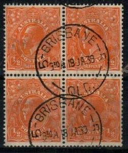 Australia Scott 113 Used VF block (Catalog Value $30.00)