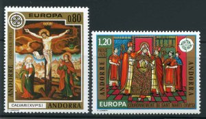 French Andorra Scott 237-238 MNH! Europa! Complete Set!
