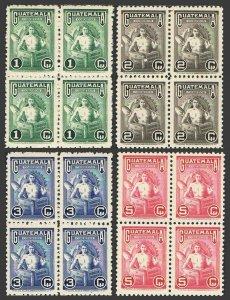 Guatemala 320-323 bl./4,MNH.Mi 477-480. Labor Day May 1,1948.Symbolical of Labor
