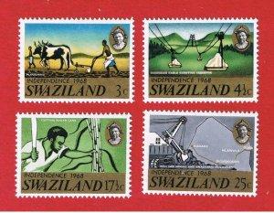 Swaziland #139-142  MNH OG  Independence   Free S/H