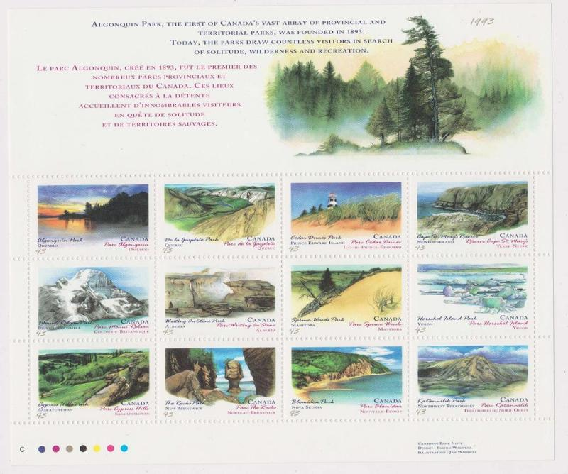 Canada -1993 Canada Day Prov & Territorial Parks mint #1483a