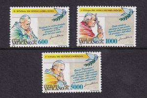 Vatican City   #936-938  MNH  1993  travels of Pope John Paul II