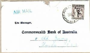 PAPUA NEW GUINEA..1936 Airmail cover with Australian Hermes stamp. Port Moresby