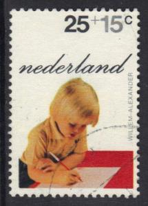 Netherlands 1972 used child welfare   princes  25 + 15 ct  #