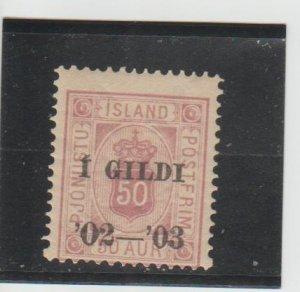 Iceland  Scott#  O30  MH  (1902 Overprint)