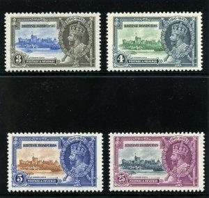 British Honduras 1935 KGV Silver Jubilee set complete MLH. SG 143-146.