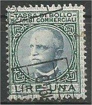 ITALY, 1936, used 1 L, TASSA DI BOLLO SCAMBI COMMERCIALI, Revenue