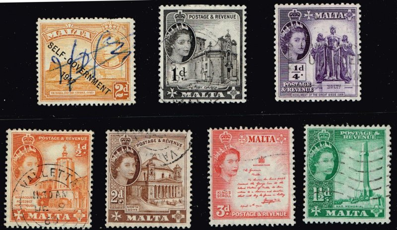 UK STAMP MALTA STAMPS COLLECTION LOT  #3
