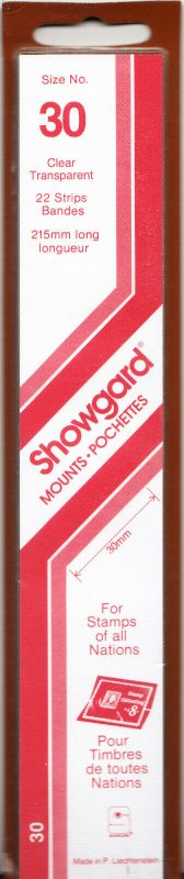 SHOWGARD 215/30 (22) CLEAR MOUNTS RETAIL PRICE $9.75