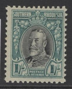 SOUTHERN RHODESIA SG23a 1935 1/= BLACK & GREENISH-BLUE p11½ MTD MINT