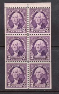 USA #720b NH Mint Booklet Pane
