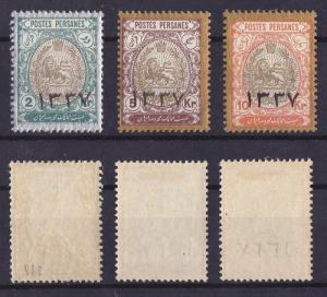 Iran Persia 1918 Definitives Overprint Mi.423 426 427 MLH    AM.485