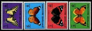 HERRICKSTAMP IRAQ Sc.# 987-90 Butterflies. Undervalued. Mint NH