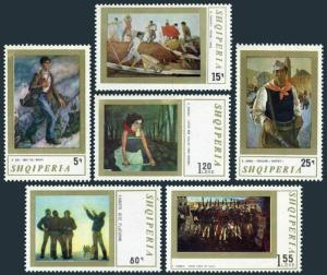 Albania 1388-1393,MNH.Michel 1513-1518. Contemporary paintings,1971.