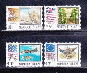 Norfolk Island 194-197 Set MNH American Bicentennial (D)