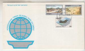 MALAYSIA, 1974 World Tin Conference set of 3, illustrated First day cover.