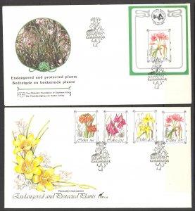 South Africa Ciskei Sc# 118-121a FDC Set/2 1988 Flowers
