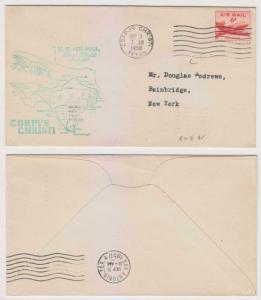 USA 1950 ROUTE 82 SEGMENT 6 AAMC 82N45 FF COVER CORPUS CHRISTI  TO NEW YORK VF