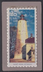 Sandy Hook Lighthouse USPS Postcard Puzzle (Scott 2474)
