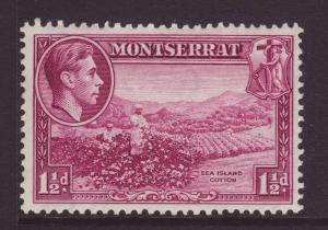 1938 Montserrat 1½d Sea Island Cotton Perf 13