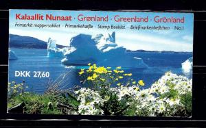 Greenland 91a;130a cpl Booklet of 2 panes of 10 stamps each
