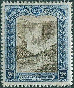 British Guiana 1898 SG217 2c brown and blue Kaipteur Falls MLH
