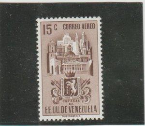 Venezuela  Scott#  C368  MH  (1951 Arms of Caracas)
