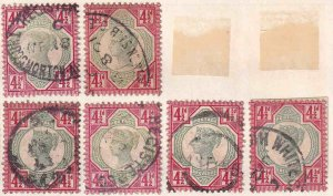 GREAT BRITAIN SC 117 x6 $338 SCV SOUND SPECIALIST COLLECTION LOT VF TO XF