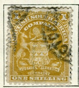RHODESIA; 1898 early classic Springbok issue fine used 1s. value