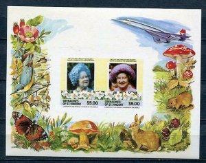 Grenadines of St Vincent Souvenir Sheet Imper Queen Mother MNH Proof/Essay?4051
