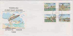 Tokelau Islands 1980 Sports Issue First Day Cover