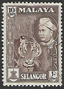 Malaya Selangor #107 Used Single Stamp