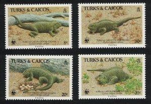 Turks and Caicos WWF Ground Iguana 4v 1986 MNH SC#710-713 SG#888-891 MI#777-780