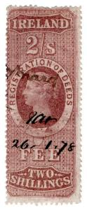 (I.B) QV Revenue : Ireland Registration of Deeds 2/- (1872)