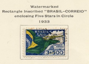 Brazil 1933 Early Issue Fine Used 3500r. NW-12107