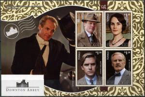 "Tuvalu 2014. British TV Series  Downton Abbey"" (MNH OG) Miniature Sheet"