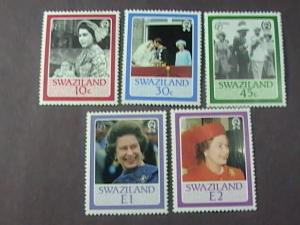 Swaziland MNH 490-4 QE II 60th Birthday 1986