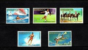 BARBADOS - 1971 - TOURISM - WATER SKI - TENNIS - SCUBA - SAILFISH - MINT NH SET!