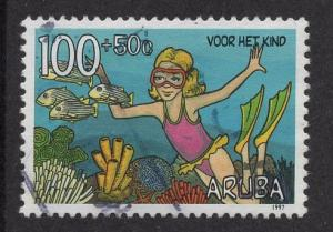 Aruba   #B50   used  1997 child welfare 100c