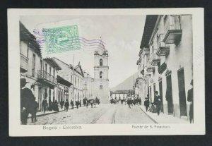 1914 Bogota Colombia Copenhagen Denmark S Francisco Bridge RPPC Postcard Cover